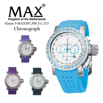 MAX XL WATCHES 5-MAX507 腕時計 クロノグラフ機能