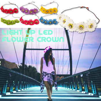 LEDフラワークラウン Light Up LED Flower Crown