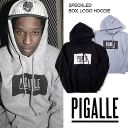 PIGALLE PARIS Speckledn Box Logo ピガール パーカー